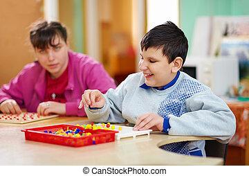 sviluppo, gli utenti disabili, bambini, conoscitivo