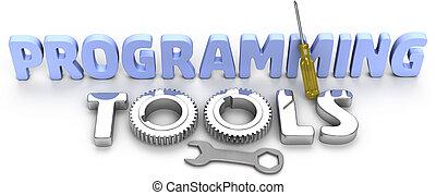 sviluppo, programmazione, tecnologia, attrezzi