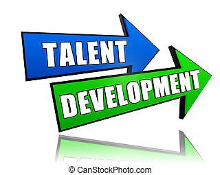 sviluppo, talento, frecce