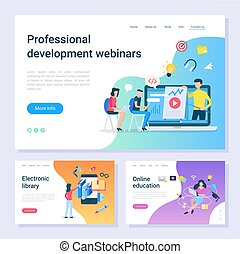 sviluppo, web, biblioteca, webinar, elettronico, pagine