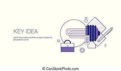 sviluppo, web, concetto, affari, spazio, idea, creativo, chiave, copia, bandiera