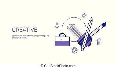 sviluppo, web, concetto, affari, spazio, processo, creatività, creativo, sagoma, copia, bandiera