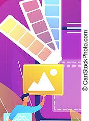 sviluppo, web, concetto, illustrazione, vettore, disegno