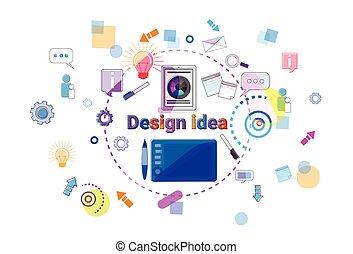 sviluppo, web, concetto, processo, programmazione, idea, creativo, disegno, bandiera, software