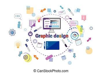 sviluppo, web, concetto, processo, programmazione, idea, creativo, disegno, bandiera