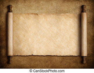 svitek, pergamen, nad, dávný, noviny, grafické pozadí, 3, ilustrace