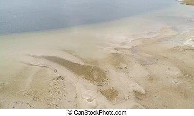 svityaz., désastre, ukraine., écologique, lac