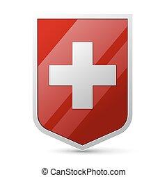 svizzera, cappotto, braccia