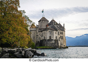 svizzera, castello, ginevra