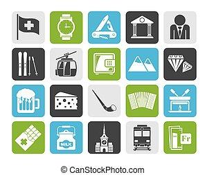svizzera, icone, industria