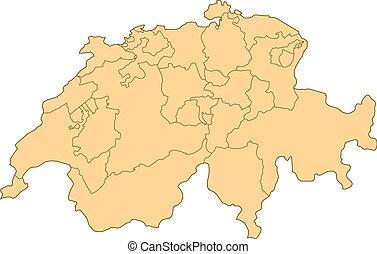 svizzera, mappa