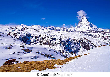 svizzera, matterhorn, picco, alpe