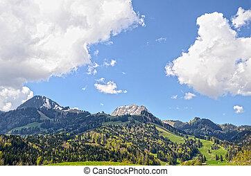 svizzera, montagne, immagine, nevoso