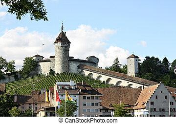 svizzera, munot, fortress.