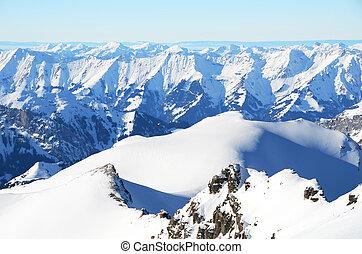 svizzera, scenario, alpino
