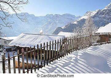 svizzera, villaggio, alpino