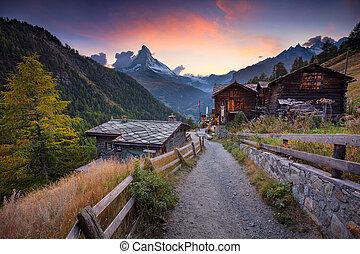svizzero, alps., matterhorn
