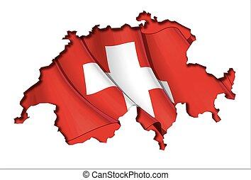 svizzero, map-flag