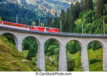 svizzero, railway., switzerland.