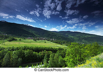 svizzero, valle montagna