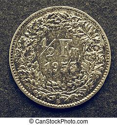 svizzero, vendemmia, moneta
