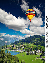 svizzero, villaggio, piccolo