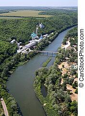 Svyatogorsk. Aerial view.