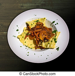 Swabian ravioli, German recipe for ravioli