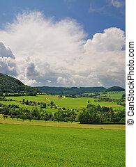charming scenery of the swabian alb
