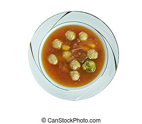 Swabian soup with meatballs
