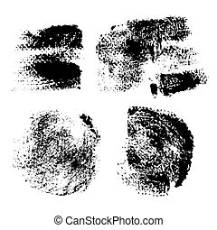Swabs and prints of paint textured paper