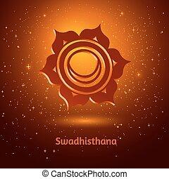 Swadhisthana chakra. - Vector illustration of Swadhisthana...