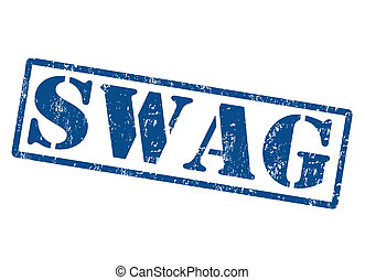 Swag stamp - Swag grunge rubber stamp on white, vector...