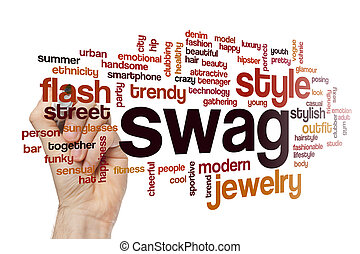 Swag word cloud concept