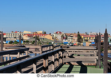 Swakopmund from the old historic German jetty