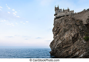 Swallow Nest Castle on Ay Todor cape in Crimea - travel to...