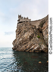 Swallow Nest Castle over Black Sea in evening - travel to...
