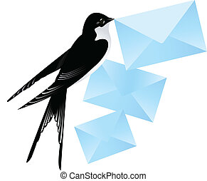 Swallow with mail