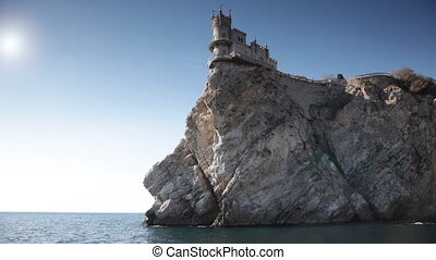 Swallow's Nest castle on the rock over the sea, Crimea,...