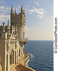 swallow's, nido, castillo, crimea, ucrania