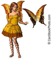 Swallowtail Butterfly Fairy - 1 - Yellow swallowtail...