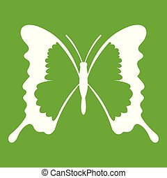 Swallowtail butterfly icon green