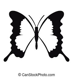 Swallowtail butterfly icon, simple style