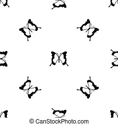 Swallowtail butterfly pattern seamless black - Swallowtail...