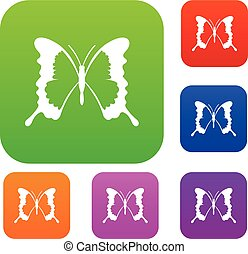 Swallowtail butterfly set collection