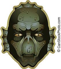 Swamp Creature - A swamp creature face.
