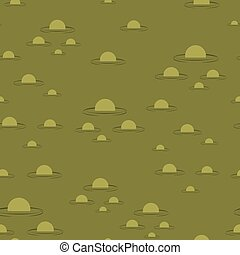 Swamp seamless pattern. Big green morass texture. Bubbles on...