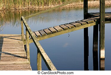 Swamp - Old wooden structure over a small lake