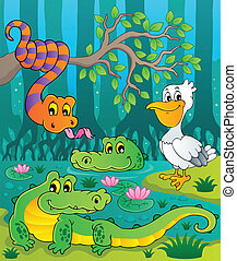 Swamp theme image 1 - vector illustration.