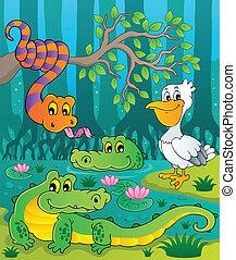 Swamp theme image 1 - vector illustration.